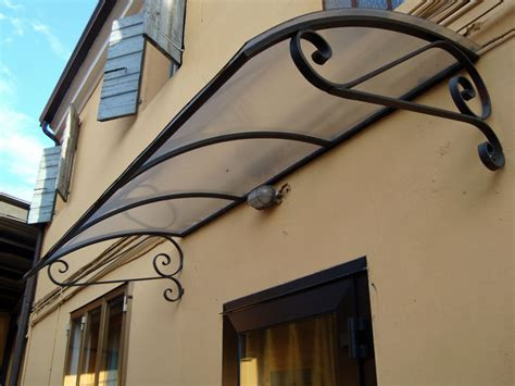 tettoie per porte d ingresso pensiline e tettoie in ferro battuto