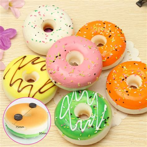 Donut Decorations by Doll House Miniatures 7 5cm Random Squishy Donut Cake