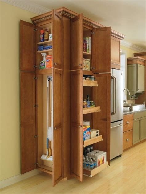 wood broom closet cabinet best ideas advices for