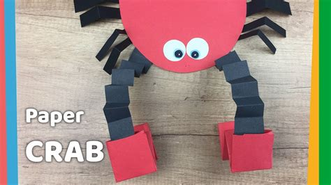 How To Make Paper Crab - how to make paper crab with moving pincers easy and