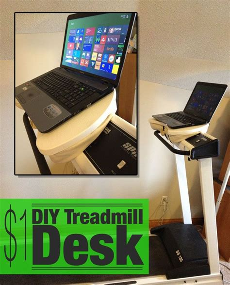 Diy Bike Desk 1 Diy Laptop Desk For Treadmill Stepper Or Exercise Bike Now You Can Keep Up With And