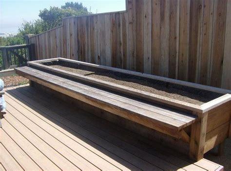 wooden bench planter boxes bench planter garden home architecture pinterest