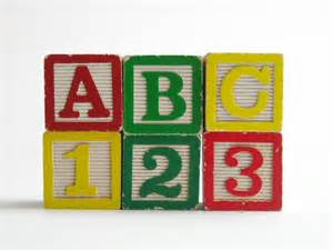 Diy Wall Sconce Vintage Abc 123 Wooden Childrens Blocks