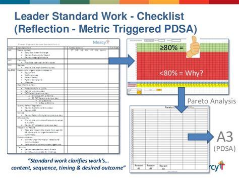 leader standard work template mercyleaderstandardworkabbreviatedppleansummit060514 1