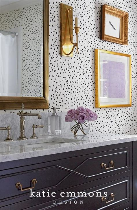 wallpaper with gold accents fun bathroom design featuring gold accents and patterned