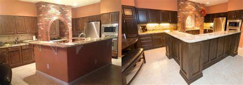 cabinet refinishing az refinished kitchen cabinets before and after amazing