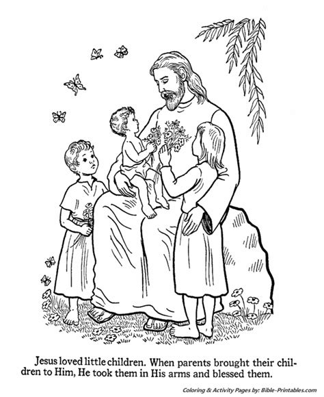 jesus teaches coloring pages jesus loves the children