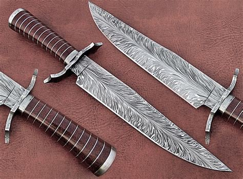 100 usa made kitchen knives custom made damascus bowie
