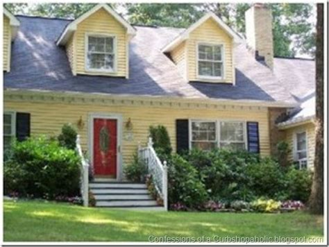 yellow house with red door red door blue shutters yellow house houses pinterest