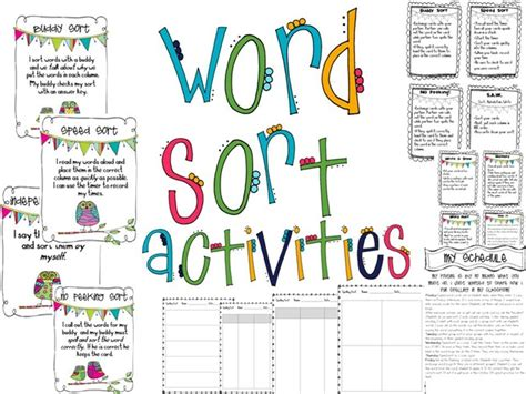 word sort templates word sort templates the tattooed spelling my way sorting