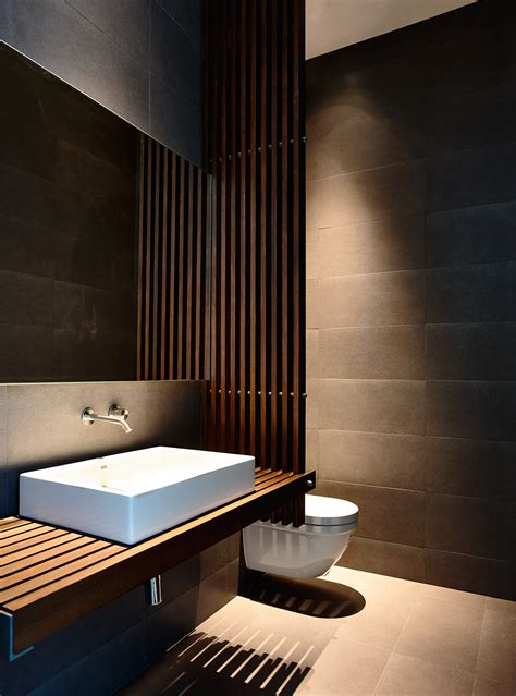trennwand toilette wood slats add texture and warmth to these homes