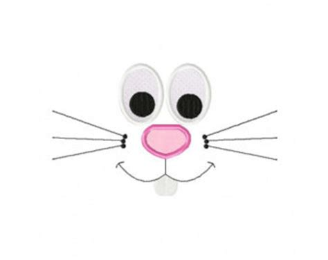 printable bunny eyes cute bunny rabbit etsy