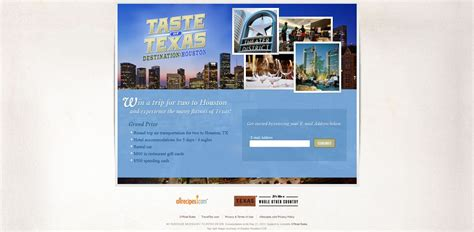 Sweepstakes For Texas Residents Only - taste of texas destination houston sweepstakes