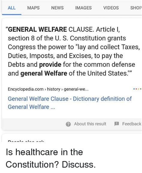 article i section 8 of the united states constitution all maps news images videos shop general welfare clause