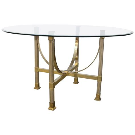 brass and glass dining table maison jansen brass and glass dining table for sale at 1stdibs