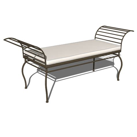 wrought iron benches wrought iron garden set 3d model formfonts 3d models