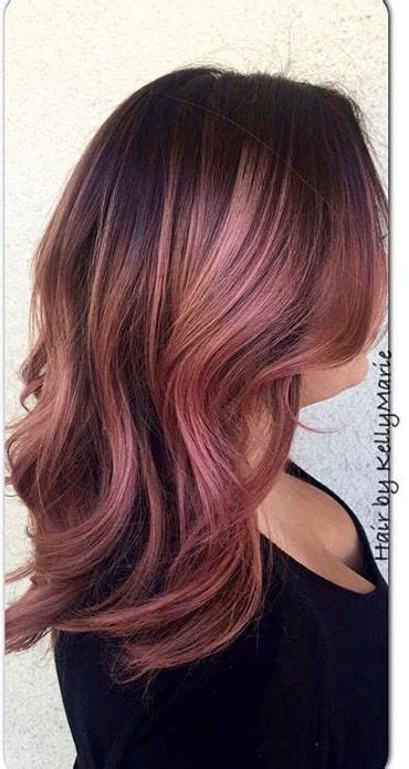 rose gold hair dye dark hair stunning rose gold hair ideas rose gold hair gold