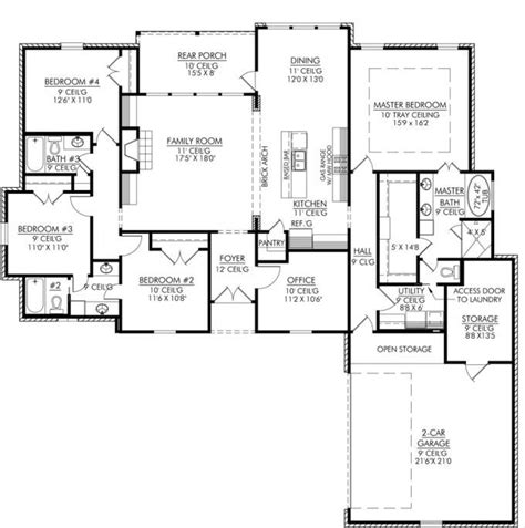 4 bedroom house blueprints blueprints for 4 bedroom homes redglobalmx org