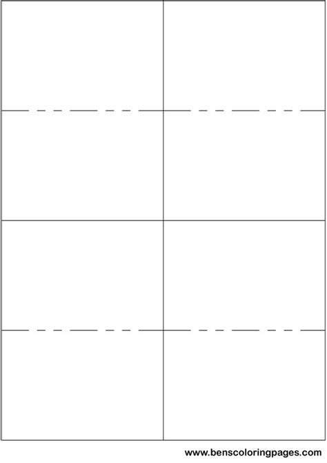 printable cards templates make your own small flashcards using this template