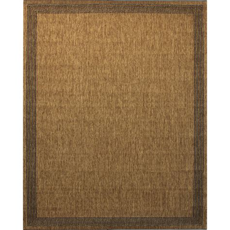 Shop Portfolio Arena Chestnut Indoor Outdoor Inspirational Outdoor Carpet Rugs