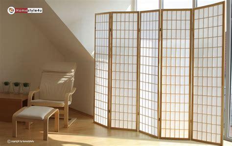 Trennwand Raumteiler by Holz Paravent Raumteiler Trennwand Shoji In Natur