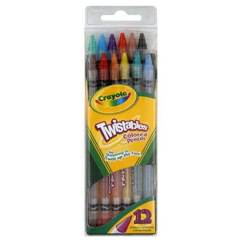 crayola twistable colored pencils crayola twistables colored pencils 12 pencils toys