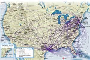 continental airlines route map domestic routes