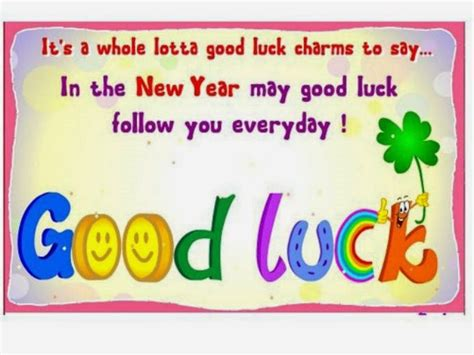new year lucky message free luck photo s for new year