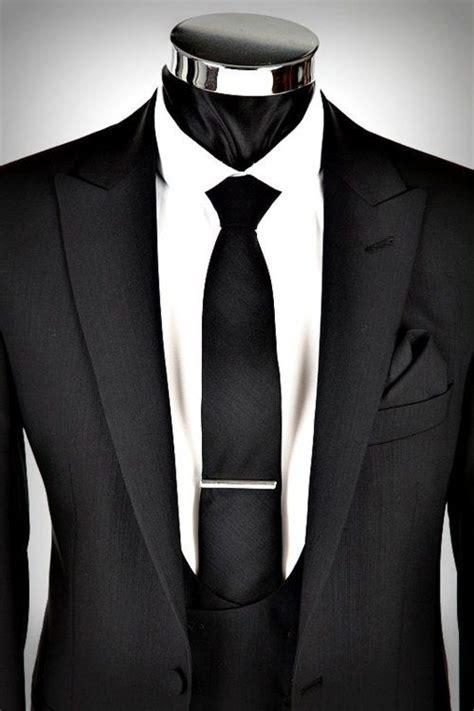 black suit black tie my style vests
