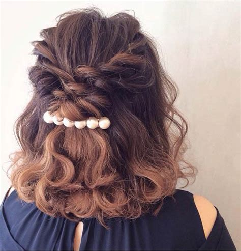 curls half up half down hairstyles medium length hair 31 half up half down hairstyles for bridesmaids stayglam