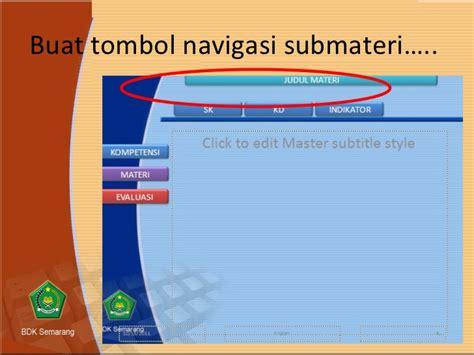 membuat tombol navigasi powerpoint tips membuat slide master template
