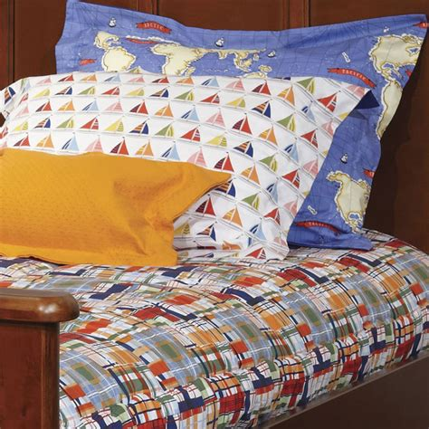 bunk bed bedding cooper journey plaid bunk bed hugger comforter bedding