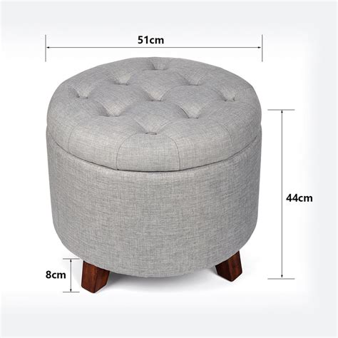 Stool Ottoman by Footstool Seat Storage Ottoman Stool With Button