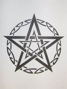 tribal pentagram by magpievon on deviantart
