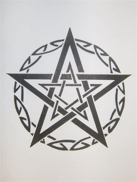 celtic pentagram tattoo designs tribal pentagram by magpievon on deviantart