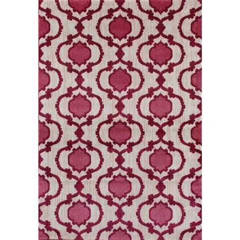 soft pink area rug world rug gallery modern moraccan trellis pink 3 ft 3 in x 5 ft soft area rug 22755 3