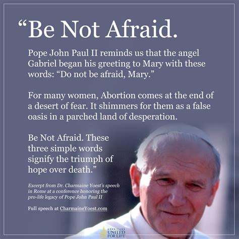 Be Not Afraid by Paul Ii Be Not Afraid Quotes Quotesgram