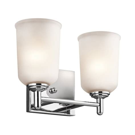 Chrome Bathroom Lighting Shop Kichler Lighting 2 Light Shailene Chrome Bathroom Vanity Light At Lowes