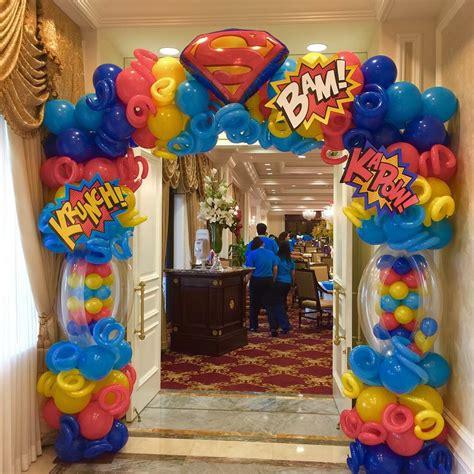 party themes original super hero balloon arch party decoration ideas
