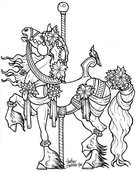 coloring pages of carousel animals carousel horse coloring pages to print coloring home