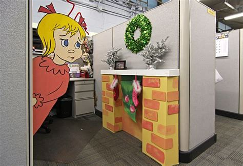 office christmas cube decorating ideas christmas