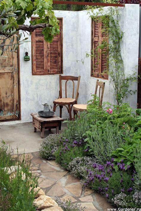 Vintage Backyard by Vintage Style Courtyard In Summer Backyard