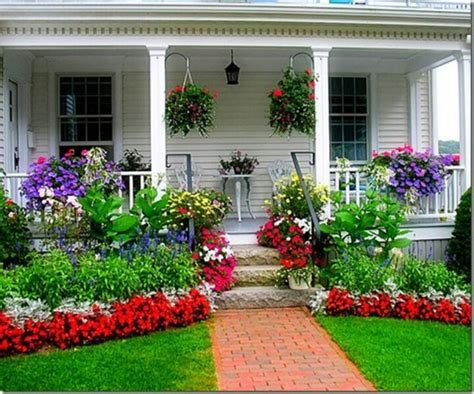 Colorful Front Porches colorful front porch and yard for the home