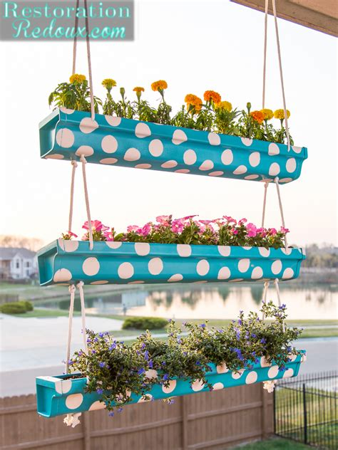 tier polka dot hanging gutter planter daily dose  style
