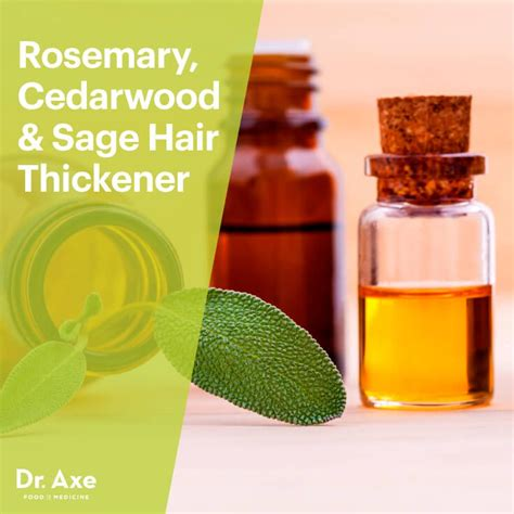 Natural Hair Thickener Recipe | hair thickener with rosemary cedarwood sage dr axe