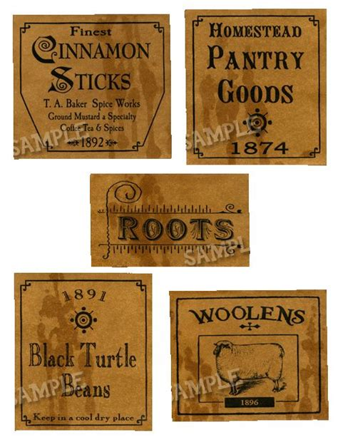 printable primitive labels 250 best images about primitive printables on pinterest