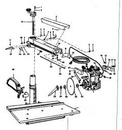radial arm saw diagram radial free engine image for user manual