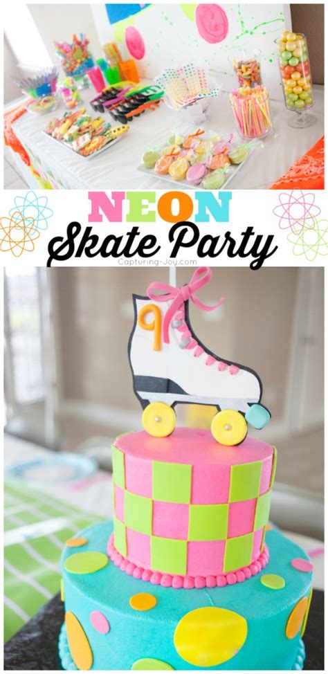 Rock And Roll Home Decor neon skate birthday party
