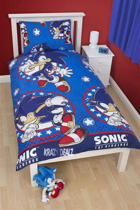 sonic bed official sega sonic the hedgehog sprint single duvet cover