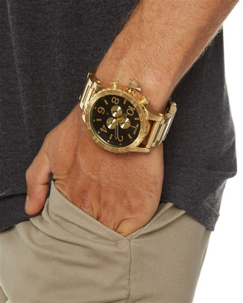 nixon the 51 30 chrono all gold black surfstitch